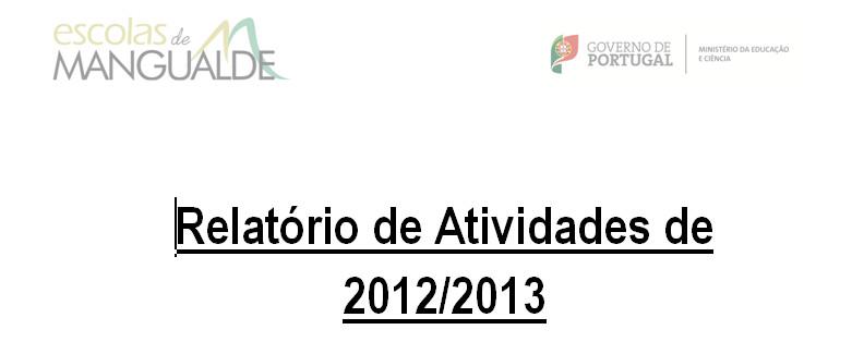 Relatório de Atividades 2012-2013